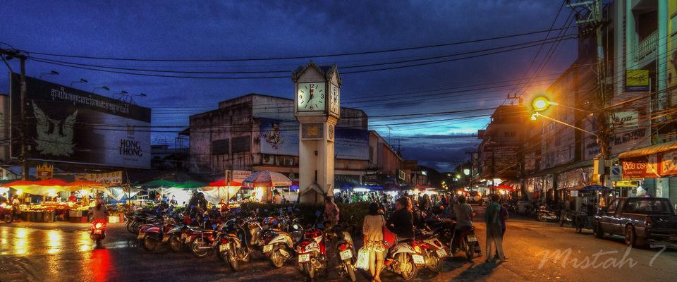 Old Clocktower beside Morning Market