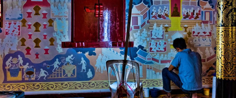 New decorations in Wat Phra Singh