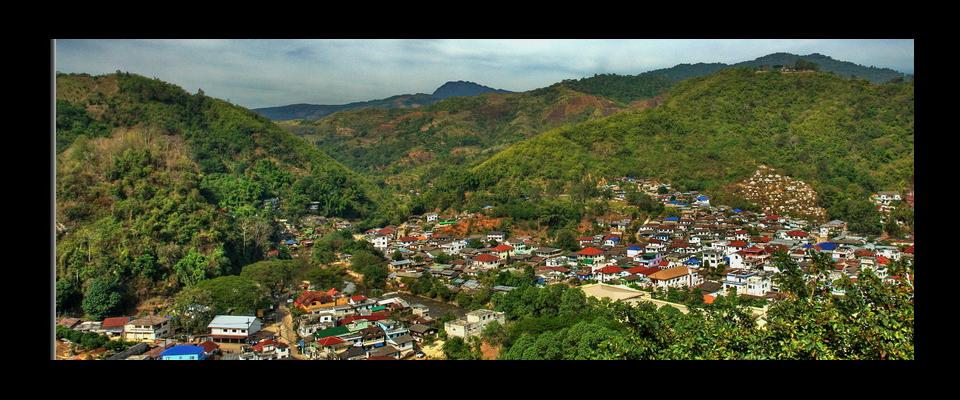 View over Tachilek(Burma)  from Mae Sai